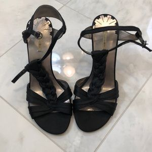 Black Max Studio strapping heels